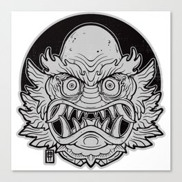 Oni from the Black Lagoon (dark) Canvas Print