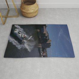 "Pilot Launch 4 leaving the River Hull ""old harbour"" 1982. 35mm slide at 9600dpi Rug"