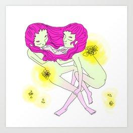 Twin Girl Art Print