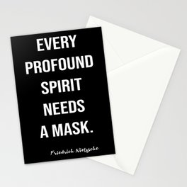 Friedrich Nietzsche On A Mask Stationery Cards