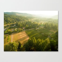 Willamette Valley Farm Canvas Print