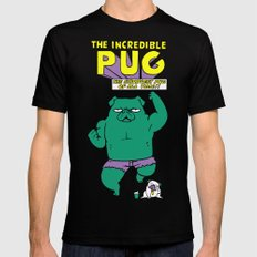 The Incredible Pug Black Mens Fitted Tee MEDIUM