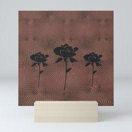 Three Black Roses Mini Art Print