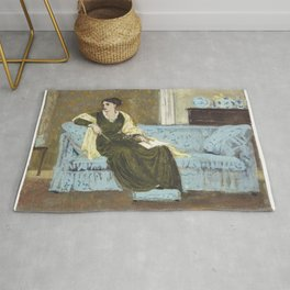 Woman Seated on a Sofa (1865-1915) by Walter Crane Rug