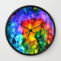 karma Wall Clocks featuring Karma by Claire Day