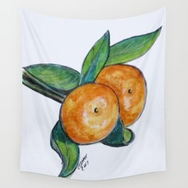 Two Oranges Wall Tapestry