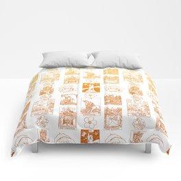 Beautiful Golden Tarot Card Print Comforters