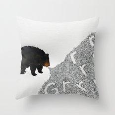 Grrrrrr... Throw Pillow