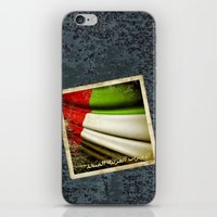arab iPhone & iPod Skins featuring Grunge sticker of United Arab Emirates flag by Lulla