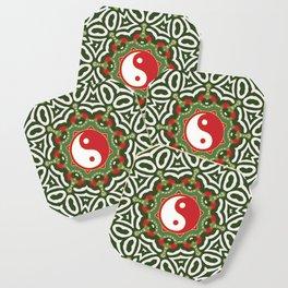 Holiday Festive Balance Yin Yang Coaster