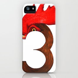 Cock-a-Three iPhone Case