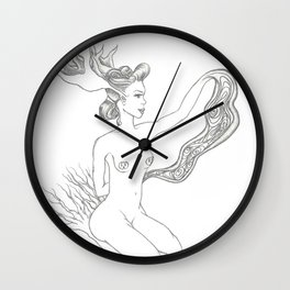 wooden doll Wall Clock