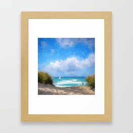 Beach Idylle 2018 Framed Art Print