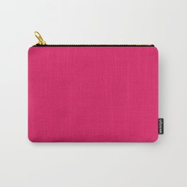 Raspberry Red Solid Color Carry-All Pouch