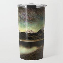 Milky way over twin lakes Travel Mug