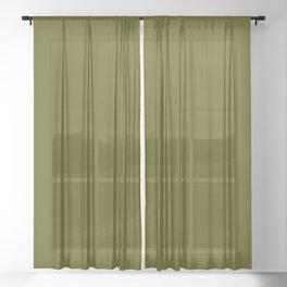 Monochrom 24 dark green Sheer Curtain