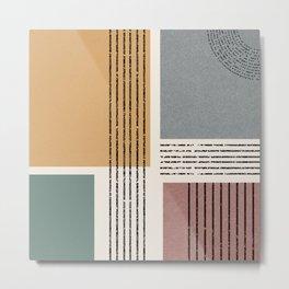 Modern Geo Design  Metal Print