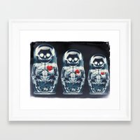 doll Framed Art Prints featuring Nesting Doll X-Ray by Ali GULEC