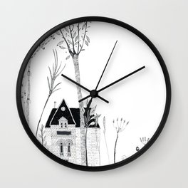 Little House in Forrest Wall Clock