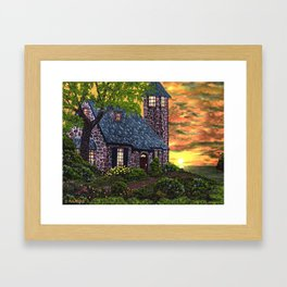 Essex House Lighthouse by Ave Hurley  Framed Art Print