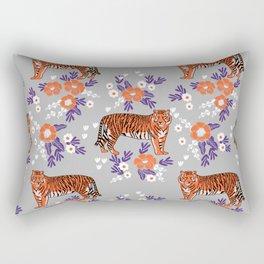 Tigers orange and purple clemson football varsity university college sports fan gifts Rectangular Pillow