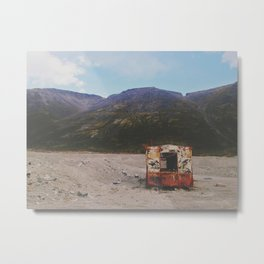Abandoned old trailer  Metal Print