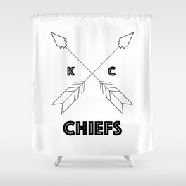 Chiefs Arrowhead Shower Curtain