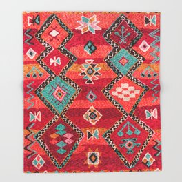 18 - Traditional Colored Epic Anthique Bohemian Moroccan Artwork Throw Blanket