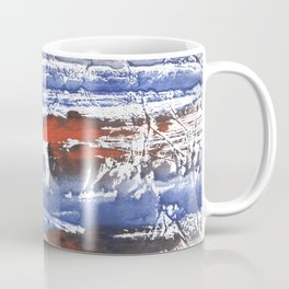 Blue gray stained aquarelle pattern Coffee Mug
