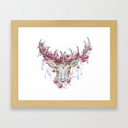 Watercolor Reindeer Framed Art Print