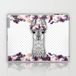 FLOWER GIRL ALPACA Laptop & iPad Skin