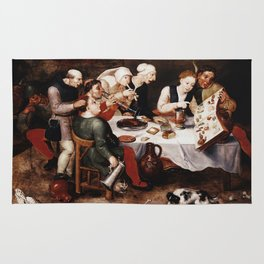 Hieronymus Bosch - The Bacchus Singers Rug
