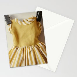 Doll Closet Series - Mustard Stripe Dress Stationery Cards