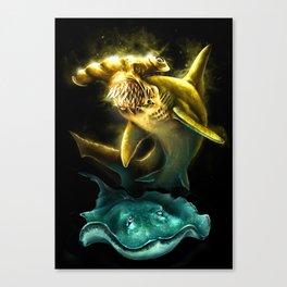 Hummer Sharks Canvas Print
