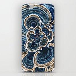 Blue Trametes Mushroom iPhone Skin