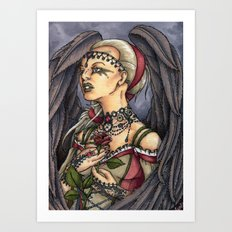 Marooned - Gothic Angel Portrait Art Print