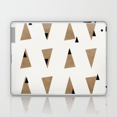 Triangles(Gold and Black) Laptop & iPad Skin