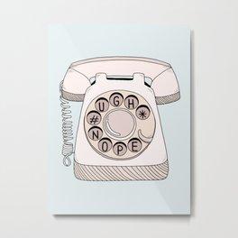 Phone Call Metal Print