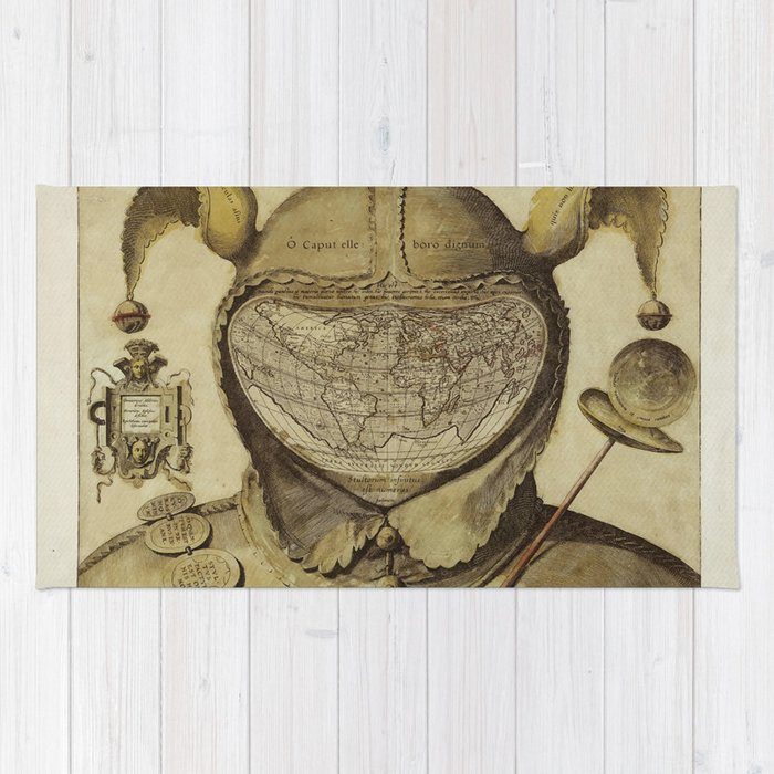 Vintage World Map - Fool's Cap Map of the World Rug