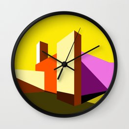 Casa Barragán Modern Architecture Wall Clock
