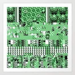 PalletGlitch Art Print