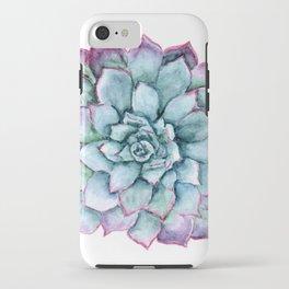 Purple Succulent Art, Turquoise Flower, Mandala Art, Birds and Berry Studio iPhone Case