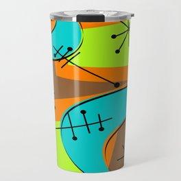 Atomic Era Inspired Boomerangs Travel Mug