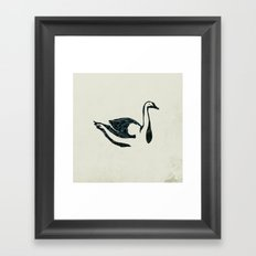 black swan song Framed Art Print