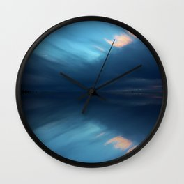 Blue Sky Abstract Wall Clock