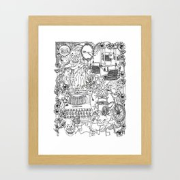 A day out with Lula Framed Art Print