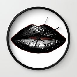 Black Goth Lips SWAK A820 Wall Clock