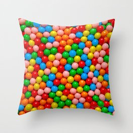 Mini Gumball Candy Photo Pattern Throw Pillow
