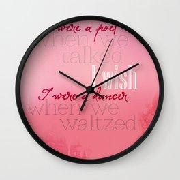 Simple Words Wall Clock