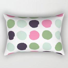 Painted dots minimal colorful pattern polka dots nursery baby decor Rectangular Pillow